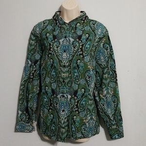 Jones New York signature woman paisley blouse